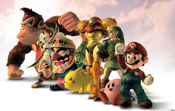 Picture nintendo, mario, superheroes, hero, kirby, samus, wario, Donkey Kong