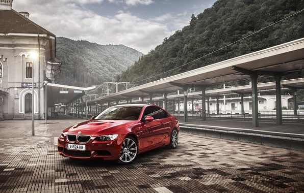 Picture BMW, red, coupe, E92, Tuning