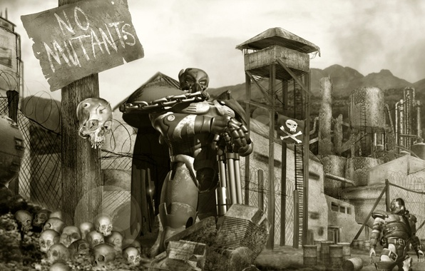 Picture armor, fallout, the guardian, postapokalipsis, tactics, nuclear war