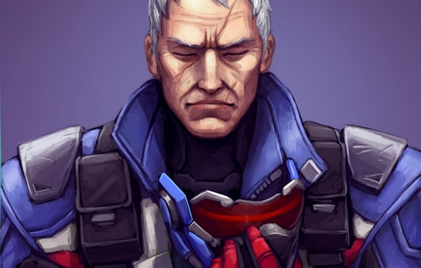 Photo wallpaper blizzard, Jack Morrison, soldiers, soldier 76, overwatch, mask, face