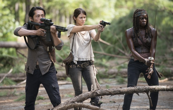 Picture Maggie, The Walking Dead, The walking dead, Steven Yeun, Michonne, Danai Gurira, Lauren Cohan, Glenn