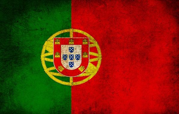 Picture color, strip, flag, dirt, Portugal