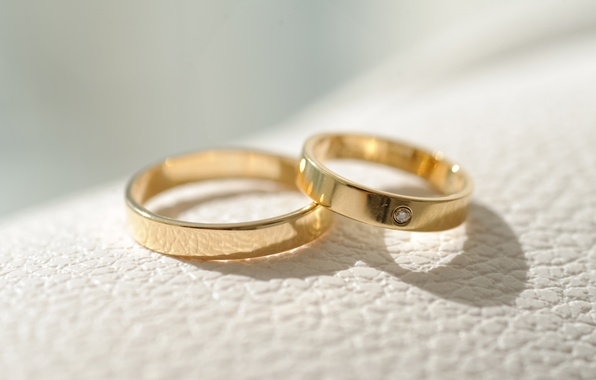 Picture gold, ring, decoration, wedding
