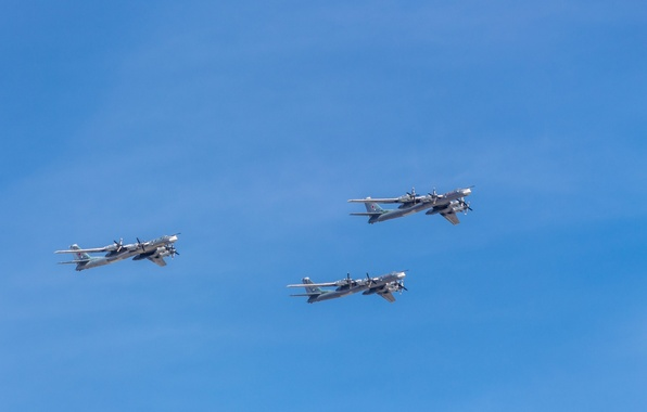 Picture Moscow, Bear, three, Tupolev, Victory, Tu-95, Parade, 2015