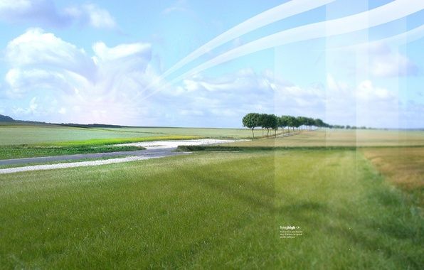 Picture road, field, line