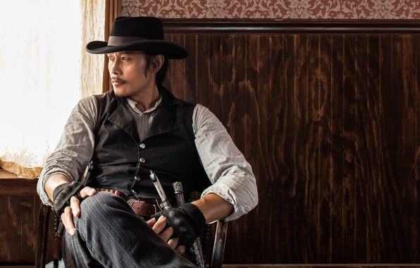 Picture weapons, hat, gloves, cowboy, knives, revolver, Western, vest, Lee Byung-Hun, Lee Byeong Heon, The Magnificent …