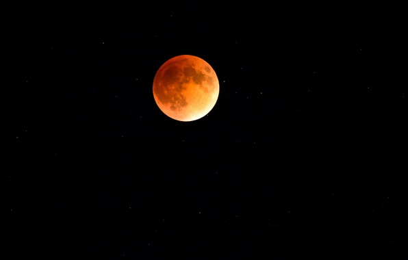 Picture night, the moon, Red Moon Eclipse
