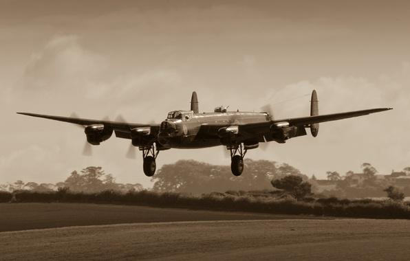 Picture bomber, four-engine, heavy, Avro Lancaster