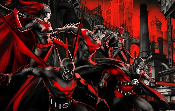 Picture red, red, comics, Batwoman, Gotham, Nightwing, Red Hood, Red hood, Gotham, Red Robin, Nightwing, Batman …