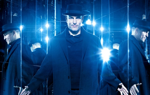 Picture reflection, blue, hat, mirror, coat, Woody Harrelson, Woody Harrelson, Now You See Me 2, The ...