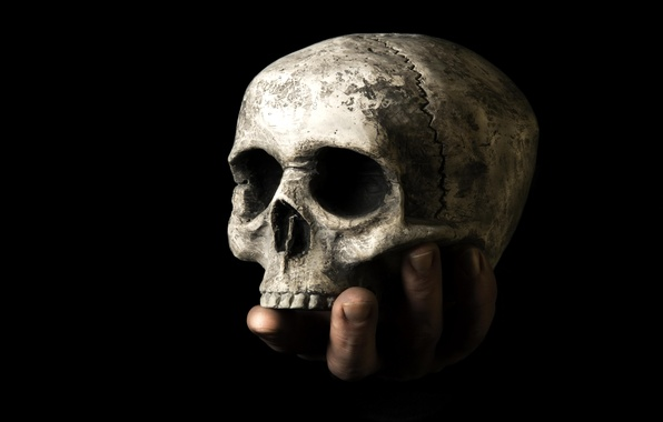 Picture death, skull, hand