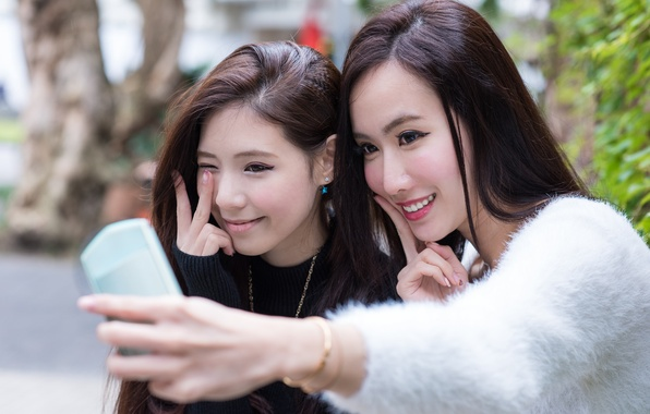 Picture smile, girls, face, selfie