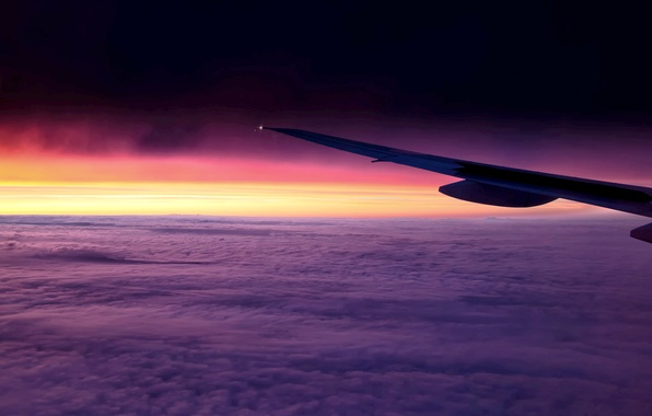 Picture the sky, clouds, flight, nature, the plane, background, Wallpaper, wing, wallpaper, journey, sky, widescreen, background, …