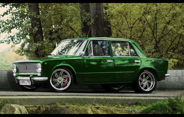 Picture muscle car, penny, muscle, Lada, VAZ, 2101, Goodwin