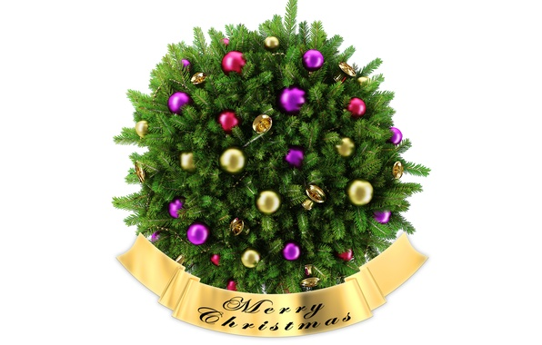 Picture needles, holiday, branch, balls, toys, new year, Christmas, spruce, new year, bells, needles, merry christmas