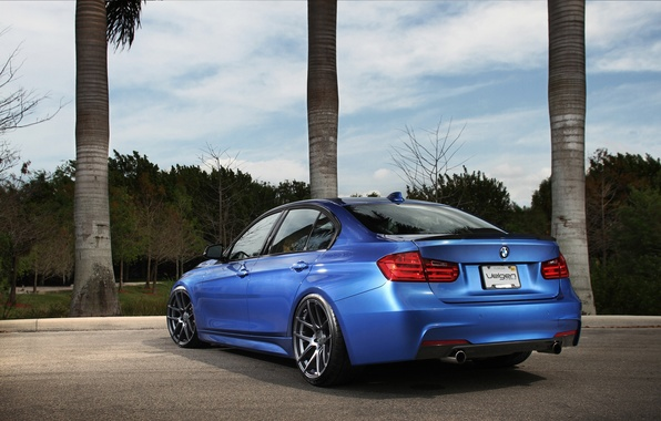 Picture blue, tuning, BMW, BMW, blue, tuning, F30, The 3 series
