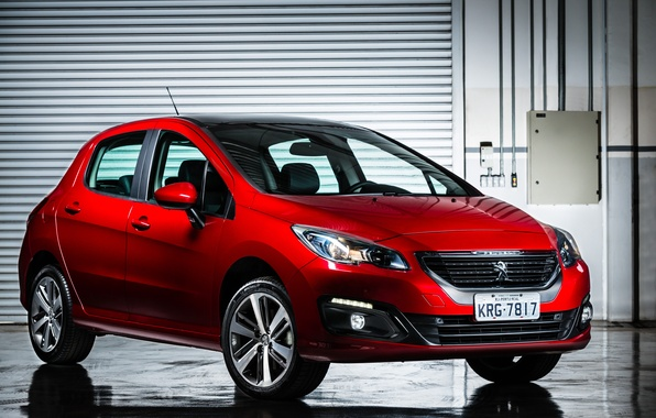 Picture Peugeot, red, Peugeot, 308