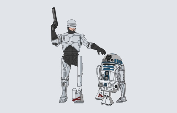Picture background, Star Wars, Star Wars, cyborg, and, droid, Robocop, R2-D2, Ar-Two-Dee-Two, Robocop, R2-D2, Artwo-Deetwo, RoboCop, …
