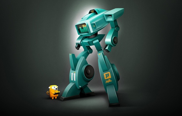 Picture Robot, digital art, spektrum XL11