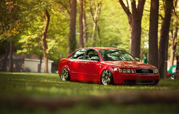 Picture red, Audi, Audi, tuning