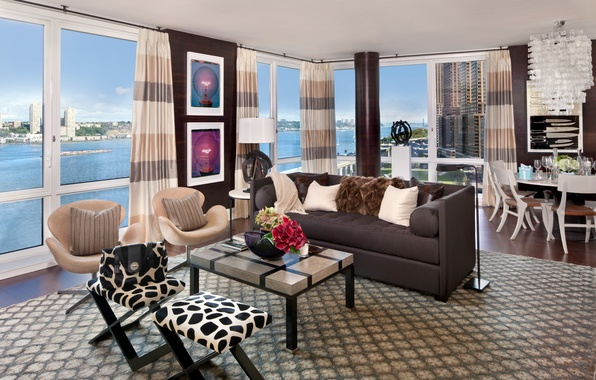 Picture design, house, style, interior, apartment, megapolis, new york city, living room