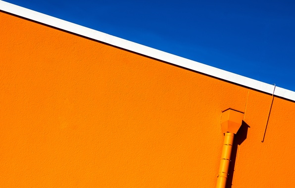 Picture the sky, wall, urban minimalism