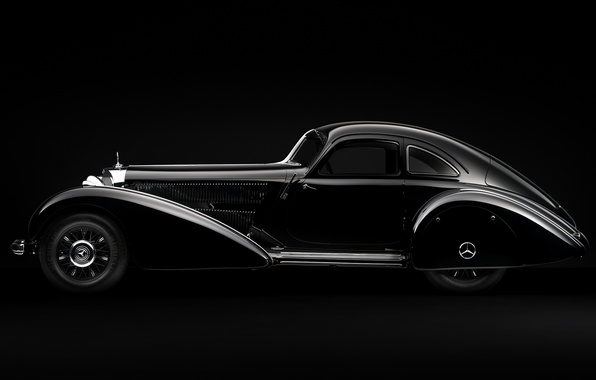 Picture minimalism, Mercedes, Machine, black and white, Mercedes