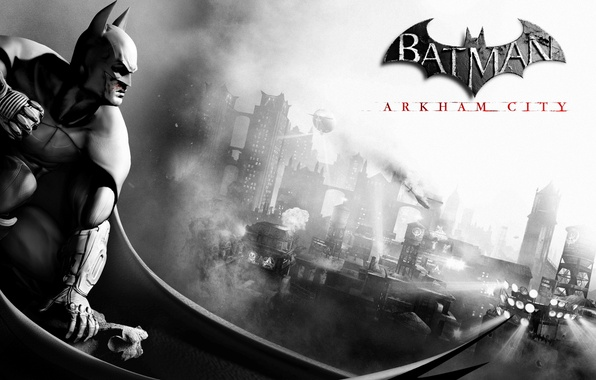 Picture the city, hero, bat, Batman Archam City