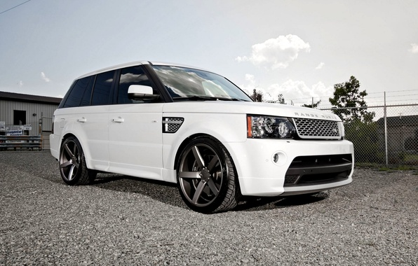 Picture White, Machine, Tuning, Desktop, Car, Beautiful, Cars, White, Wallpapers, Tuning, Beautiful, Sport, Land, Rover, Wallpaper, ...