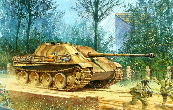 Picture figure, the second world, the Germans, sau, the Wehrmacht, Jagdpanther, Sd.Car. 173, jagdpanther, self-propelled artillery, …