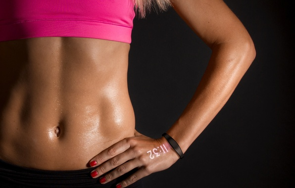 Picture sexy, woman, watch, fitness, abs