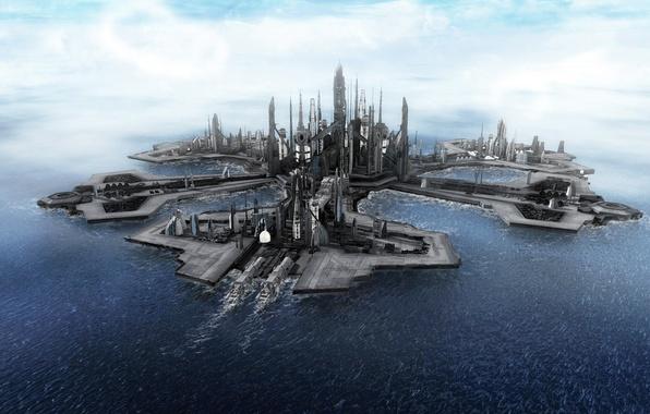 Picture the city, the ocean, Stargate, atlantis, stargate, Atlantis