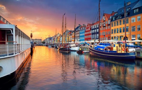 Photo Wallpaper Boat Ship Home Denmark Channel Copenhagen