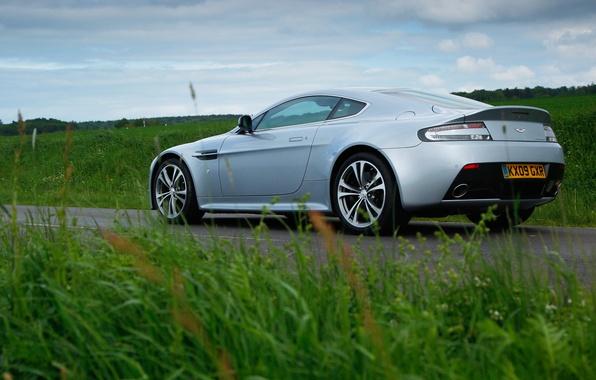 Picture grass, green, Aston Martin, Vantage, car, V12