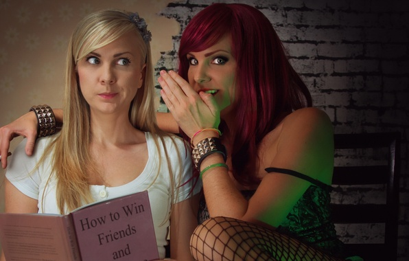 Picture girls, mystery, friend, whisper, gossip