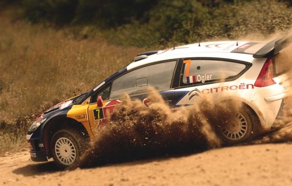 Picture Auto, Sport, Machine, Turn, Skid, Citroen, WRC, Rally, Rally