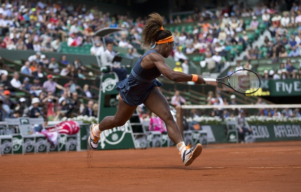 Picture USA, Blow, Tennis, Williams, Tennis, Roland Garros, kick. Serena, Roland Garros, VTA, Serena Williams, WTA, ...