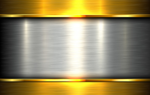 Picture metal, gold, metal, plate, gold, steel