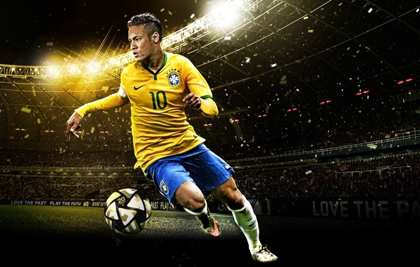 Picture room, form, emblem, hairstyle, Brazil, Brasil, Neymar, PES16