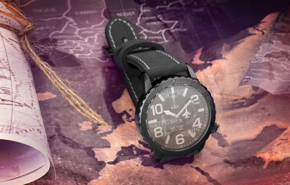 Picture style, watch, brand, hi-tech, exclusive, lie, brand, Watch, Eagle Force, logo., Jack Pierre, the map
