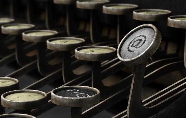 Picture internet, key, typewriter