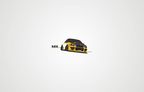 Picture vector, Subaru, STI, japan, style, tuning, art, slip
