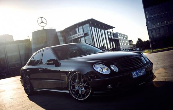 Picture Mercedes-Benz, Mercedes, Mercedes, AMG, Kompressor, 2002, Matt, BBS, Sedan, AMG, E-Class, W211, Titan, Automotive technology, …