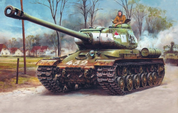 Picture figure, polar bear, The is-2, Berlin, The red army, heavy tank, Is-122, Joseph Stalin, may …