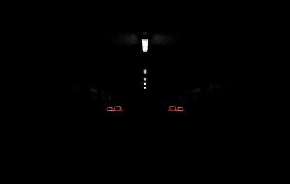 Picture light, lamp, Audi, audi, lights, dark, black, darkly
