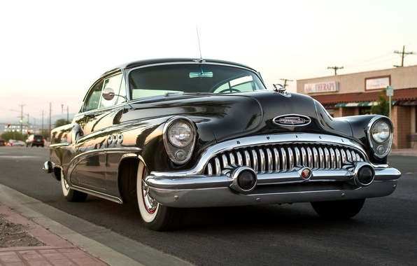 Picture retro, classic, the front, Buick