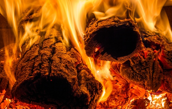 Picture fire, flame, heat, wood