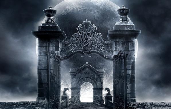 Picture bridge, Gothic, planet, arch