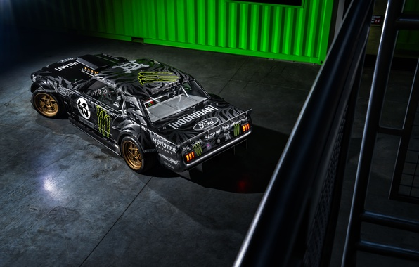 Picture Mustang, Ford, Monster, Front, 1965, RTR, Ken, View, Gymkhana, Energy, Rear, Top, Hoonicorn, SEVEN, 845 …