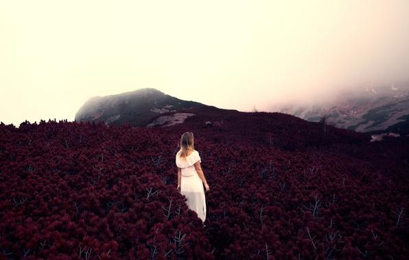 Picture girl, autumn, poland, Zakopane